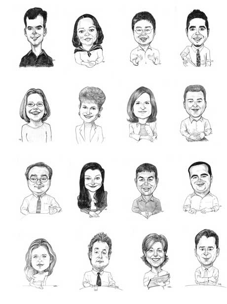 Corporate Caricature Sheet